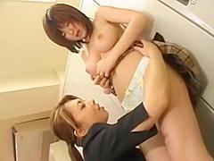 Lesbian Japanese Teacher seduces her young student