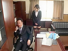 Horny Japanese whore Shion Amane in Amazing Blowjob, Office JAV movie